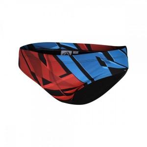 בגדי ים זארוד לגברים ZEROD GRAPHIC BRIEFS - כחול/אדום