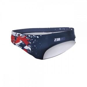 בגדי ים זארוד לגברים ZEROD NATIONAL - כחול/אדום