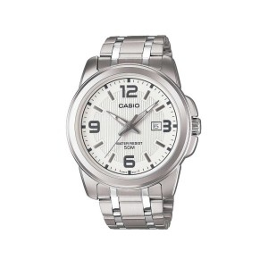 שעון קסיו לגברים CASIO MTP131 - כסף