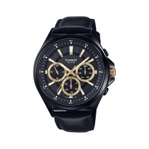 שעון קסיו לגברים CASIO MTPE303BL - שחור/צהוב