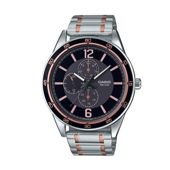 שעון קסיו לגברים CASIO MTPE319R - כסףשחור