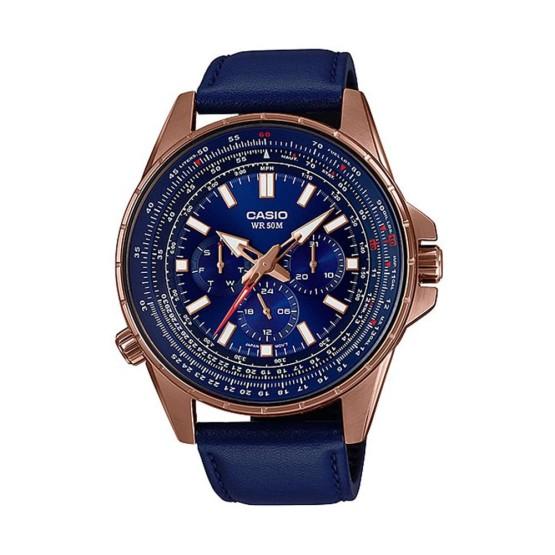שעון קסיו לגברים CASIO MTPSW320RL - כחול