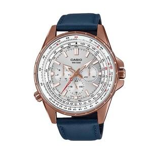 שעון קסיו לגברים CASIO MTPSW320RL - כחול/לבן