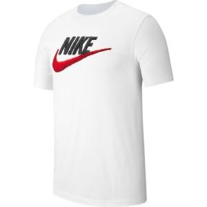 ביגוד נייק לגברים Nike BRAND MARK - לבן