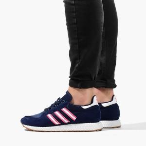 נעלי סניקרס אדידס לגברים Adidas Originals Forest Grove - כחול כהה/ורוד
