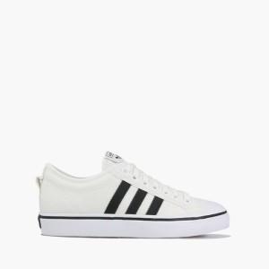 נעלי סניקרס אדידס לגברים Adidas Originals Nizza - לבן