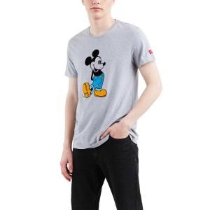 ביגוד ליוויס לגברים Levi's X Mickey Mouse Graphic Setin Neck 2 - אפור