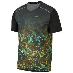 ביגוד נייק לגברים Nike Rise 365 Wild Run Printed - ירוק