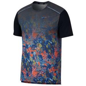 ביגוד נייק לגברים Nike Rise 365 Wild Run Printed - כחול