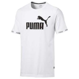 ביגוד פומה לגברים PUMA Amplified Big Logo - לבן