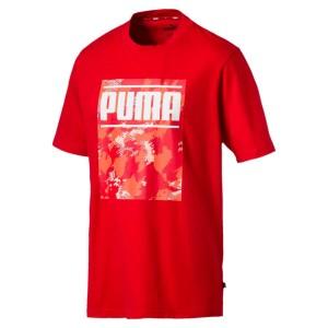 ביגוד פומה לגברים PUMA Camo Pack Logo - אדום