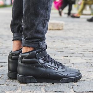 נעלי סניקרס ריבוק לגברים Reebok EX-O-FIT HI  - שחור