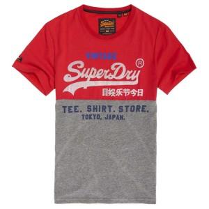 ביגוד סופרדרי לגברים Superdry Shirt Shop Tri Panel - אדום