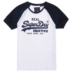 ביגוד סופרדרי לגברים Superdry Vintage Logo 1st Raglan - לבן