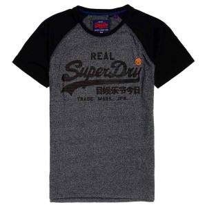 ביגוד סופרדרי לגברים Superdry Vintage Logo 1st Raglan - אפור