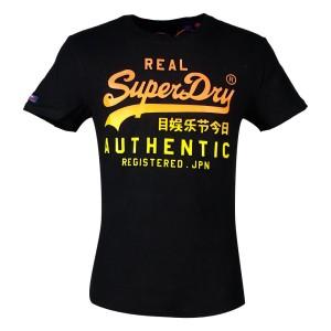 ביגוד סופרדרי לגברים Superdry Vintage Logo Authentic Fade - שחור