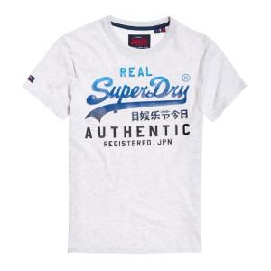 ביגוד סופרדרי לגברים Superdry Vintage Logo Authentic Fade - לבן
