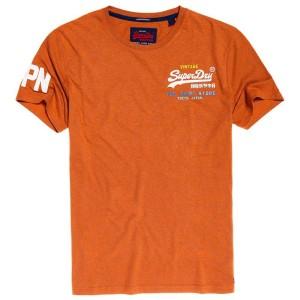 ביגוד סופרדרי לגברים Superdry Vintage Logo Cali Fade Lite - כתום
