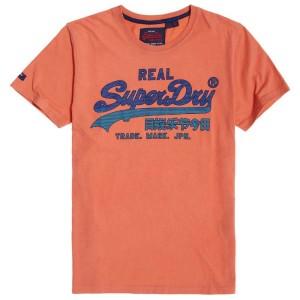 ביגוד סופרדרי לגברים Superdry Vintage Logo Fade Mid Weight - כתום