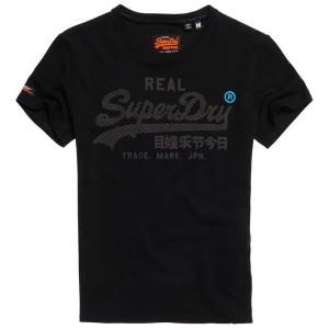 ביגוד סופרדרי לגברים Superdry Vintage Logo Monochrome - שחור