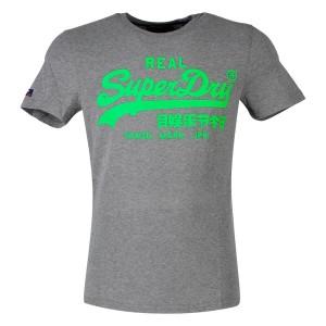 ביגוד סופרדרי לגברים Superdry Vintage Logo Neon Lite - אפור