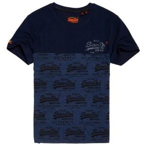 ביגוד סופרדרי לגברים Superdry Vintage Logo Neon Panel - שחור/כחול
