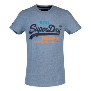 ביגוד סופרדרי לגברים Superdry Vintage Logo Tri - כחול