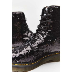 נעליים דר מרטינס  לנשים DR Martens 1460 - שחור נצנצים