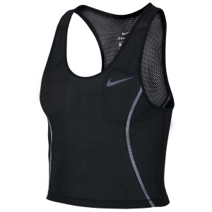 ביגוד נייק לנשים Nike Miler Crop - שחור