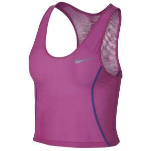 ביגוד נייק לנשים Nike Miler Crop - ורוד