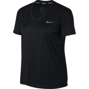 ביגוד נייק לנשים Nike Miler V Neck - שחור