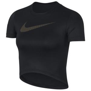 ביגוד נייק לנשים Nike Pro Crop Metallic GRX - שחור