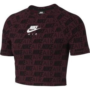 ביגוד נייק לנשים Nike Sportswear Air Aop - בורדו