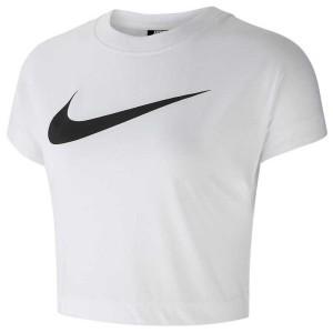 ביגוד נייק לנשים Nike Sportswear Swoosh Crop - לבן