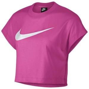 ביגוד נייק לנשים Nike Sportswear Swoosh Crop - ורוד