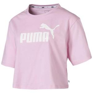 ביגוד פומה לנשים PUMA ESS+ Crop Logo - ורוד