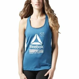 ביגוד ריבוק לנשים Reebok Activchill Graphic Tank - כחול