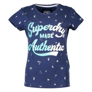 ביגוד סופרדרי לנשים Superdry Made Authentic Aop Entry - כחול