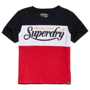 ביגוד סופרדרי לנשים Superdry Premium Luxe Colour Block - אדום
