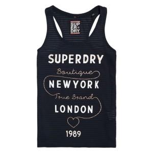 ביגוד סופרדרי לנשים Superdry True Brand Stripe Entry Vest - שחור