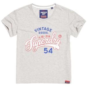 ביגוד סופרדרי לנשים Superdry Vintage Goods Slim BF - אפור