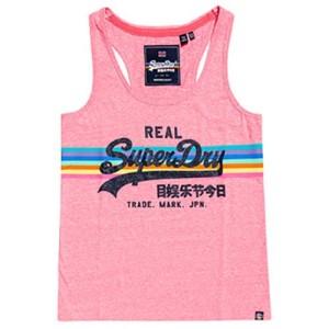 ביגוד סופרדרי לנשים Superdry Vintage Logo Retro Rainbow - ורוד