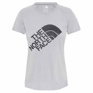 ביגוד דה נורת פיס לנשים The North Face Graphic Play Hard  - אפור