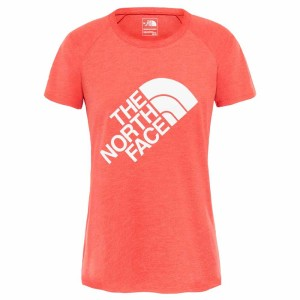 ביגוד דה נורת פיס לנשים The North Face Graphic Play Hard  - כתום