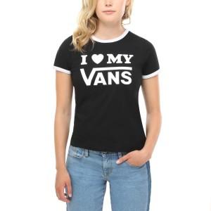 ביגוד ואנס לנשים Vans Love Ringer - שחור