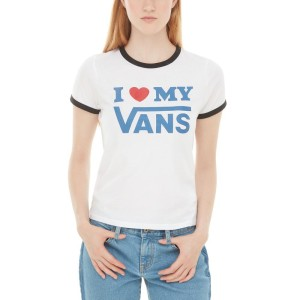ביגוד ואנס לנשים Vans Love Ringer - לבן