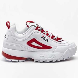 נעליים פילה לנשים Fila DISRUPTOR CB LOW - לבן/אדום