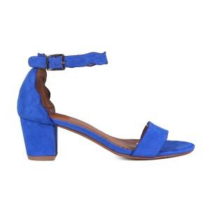 נעלי עקב נמוכות טוגו לנשים TOGO 64255 - כחול