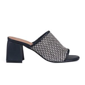 נעלי עקב נמוכות טוגו לנשים TOGO 64393 - שחור