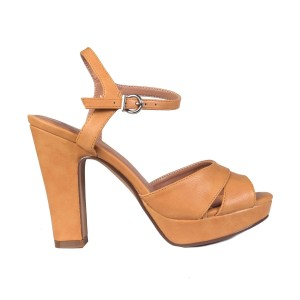 נעלי עקב גבוהות טוגו לנשים TOGO 64458 - חרדל